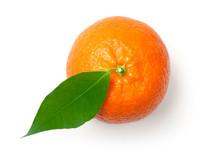 Mandarine Isolated On White Ba...