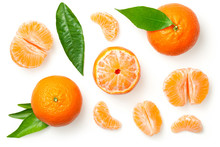 Mandarines Isolated On White B...