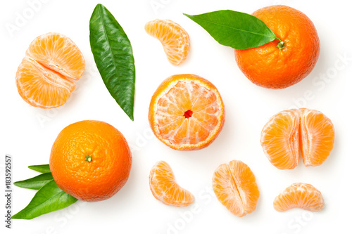 Mandarines Isolated on White Background
