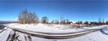 Winter Beautiful Panorama View...