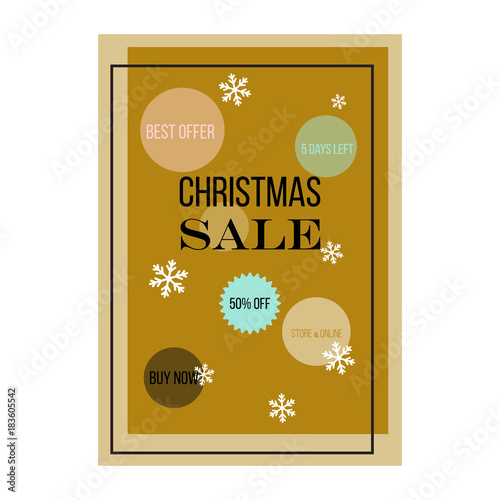 Staande foto Retro sign Christmas sale poster design