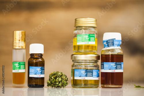 Fototapeta cannabis product oil obraz