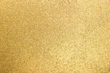 Closed Up Of Metallic Gold Gli...