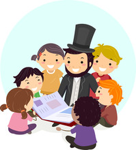 Stickman Abraham Lincoln Book Kids Illustration