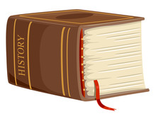 Thick Book History Illustration
