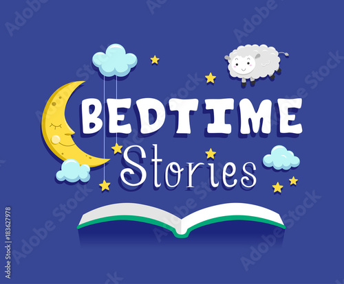 Bedtime Stories Book Illustration Canvas Print