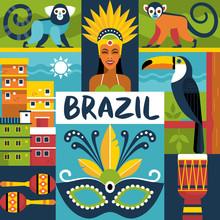 Brazil Travel Poster Concept. ...