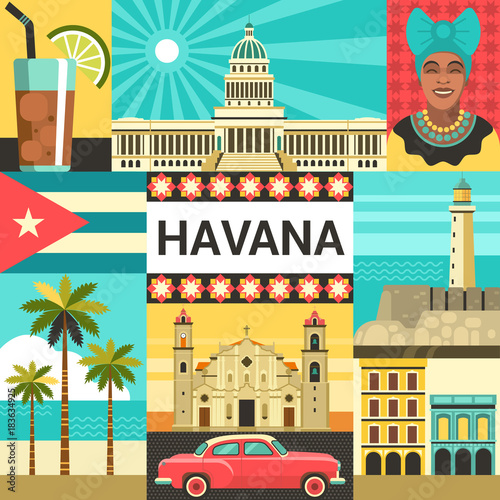 Photo Havana creative poster concept
