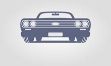 Generic Retro Car Front View