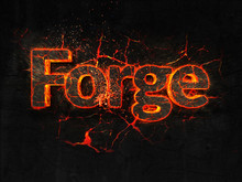 Forge Fire Text Flame Burning ...