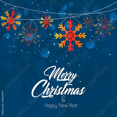 nice and beautiful abstract for Merry Christmas & Happy New Year ...