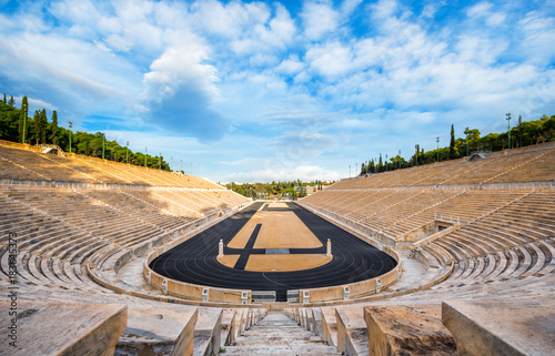 Fotografía  Panathenaic stadium in Athens, Greece (hosted the first modern Olympic Games in 1896), also known as Kalimarmaro which means good marble stone