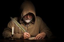 Geheimnisvoller Mönch Schreib...