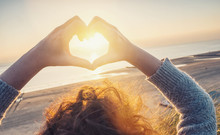 Woman Hands In Heart Symbol Sh...