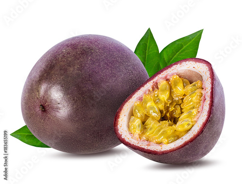 Passion fruit isolated on the white background. Wall mural