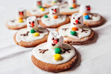 Melted Snowmans Traditional Christmas Ginger Cookies