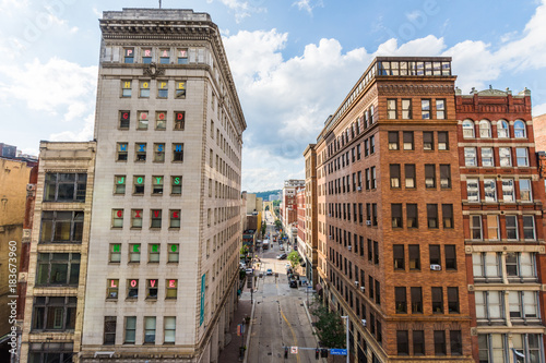Downtown Culrural District next to Allegheny Landing in Pittsburgh, Pennsylvania Wallpaper Mural