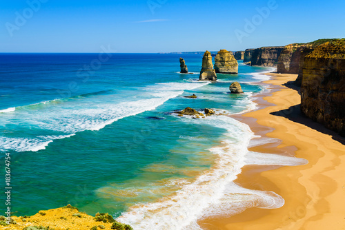 Fotografia  The Twelve Apostles on the Great Ocean Road, Australia