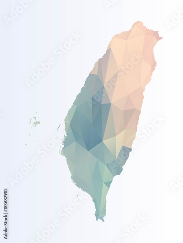 Photo Polygonal map of Taiwan