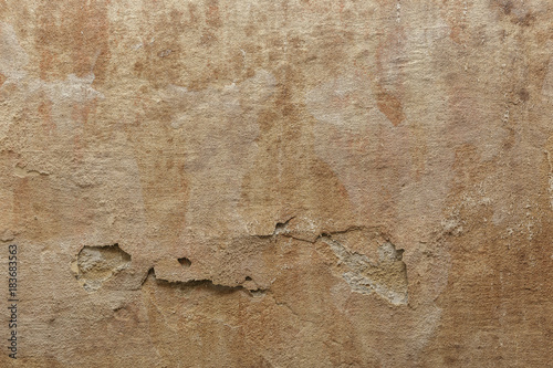 Poster Betonbehang Old dirty grunge cement concrete wall texture with mold, aged surface background