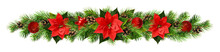 Christmas Garland With Red Pio...