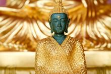 Emerald Buddha Close Up On Gol...