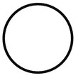 Circle Frame from Black rope for Your Element Design, Isolated on White