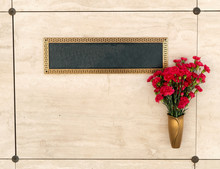 Wall Whit Flowers