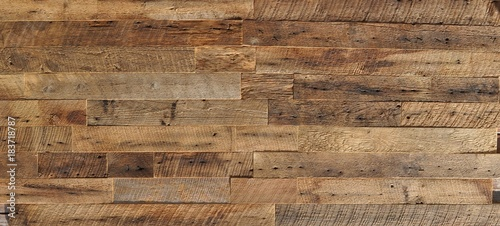 Obraz reclaimed wood Wall Paneling texture - fototapety do salonu