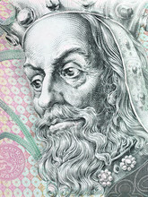 Charles IV, Holy Roman Emperor Portrait From Czech Money