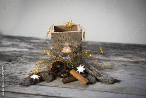 Fototapety, obrazy: Weihnachtsstimmung mit Teelicht
