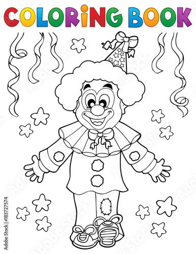 Photo Coloring book clown thematics 2