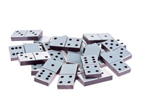 White Dominoes Lying Flat On A...
