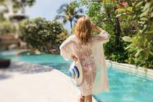 Woman In Luxury Resort