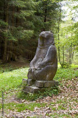 Fotografie, Obraz  Mineral water spring (Bear Spring - Medvedi pramen) in the spa forest near the s