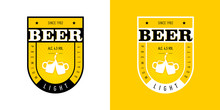 Label For Beer Bottle In Yello...