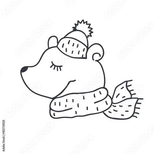 f8ac7507 Funny teddy bear. Nursery art. Minimalist scandinavian style ...