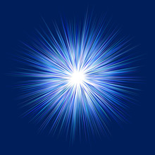 Blue Abstract Explosion, Blast Graphic Design Background