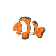 Trendy Cartoon Style Orange Cl...