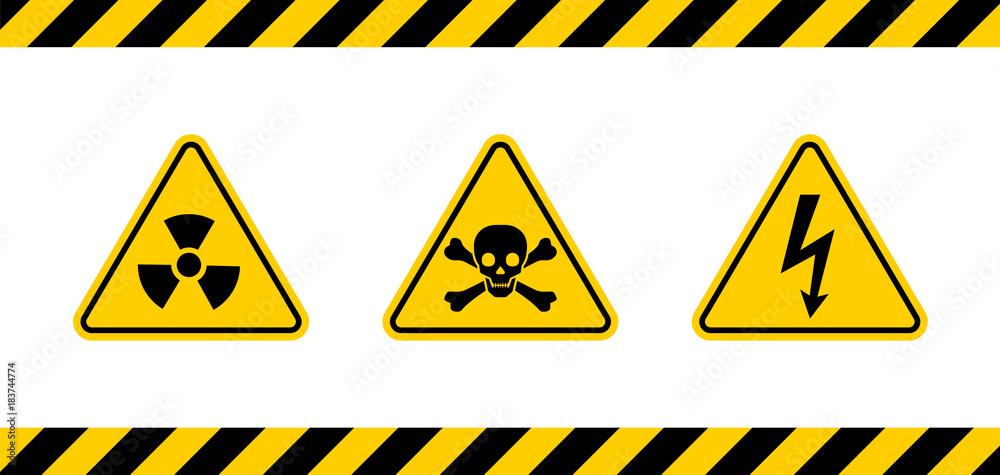 Fototapeta Caution danger sign.