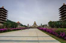 Kaohsiung, Taiwan - December 1,2017: Great Path To Buddhahood In Fo Guang Shan Buddha Museum