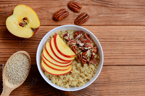 Fotografie, Obraz  Quinoa porridge with mixed topping