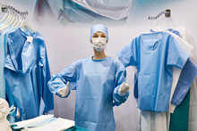 Mannequin In Surgical Gown