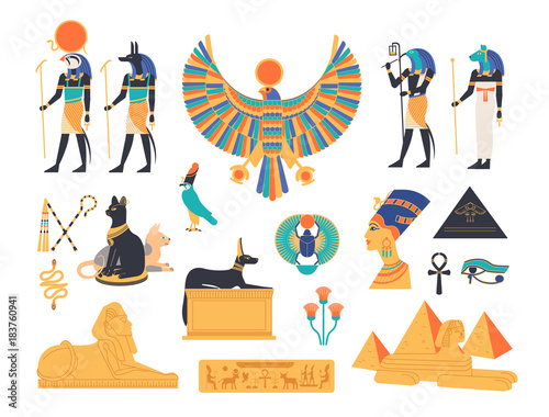 Ancient Egypt collection - gods, deities and mythological