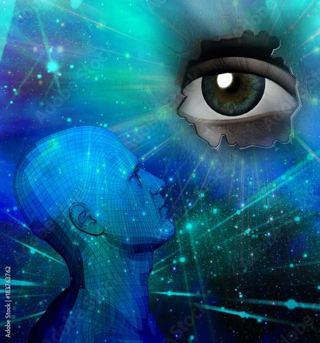 Fotografia, Obraz  Droid thinking