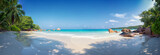 panoramic view of anse lazio beach praslin island seychelles