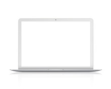 Laptop Front View. Notebook. Realistic Isolated Model - Vector Stock.