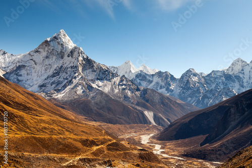 Photo Ama Dablam, Everest region, Himalaya, Nepal