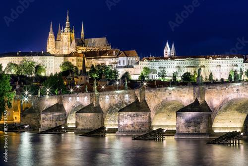 Plakat Charles most i St. Vitus katedra w Praga - republika czech