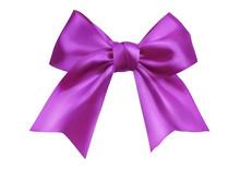 Realistic Isolated Purple Ribb...